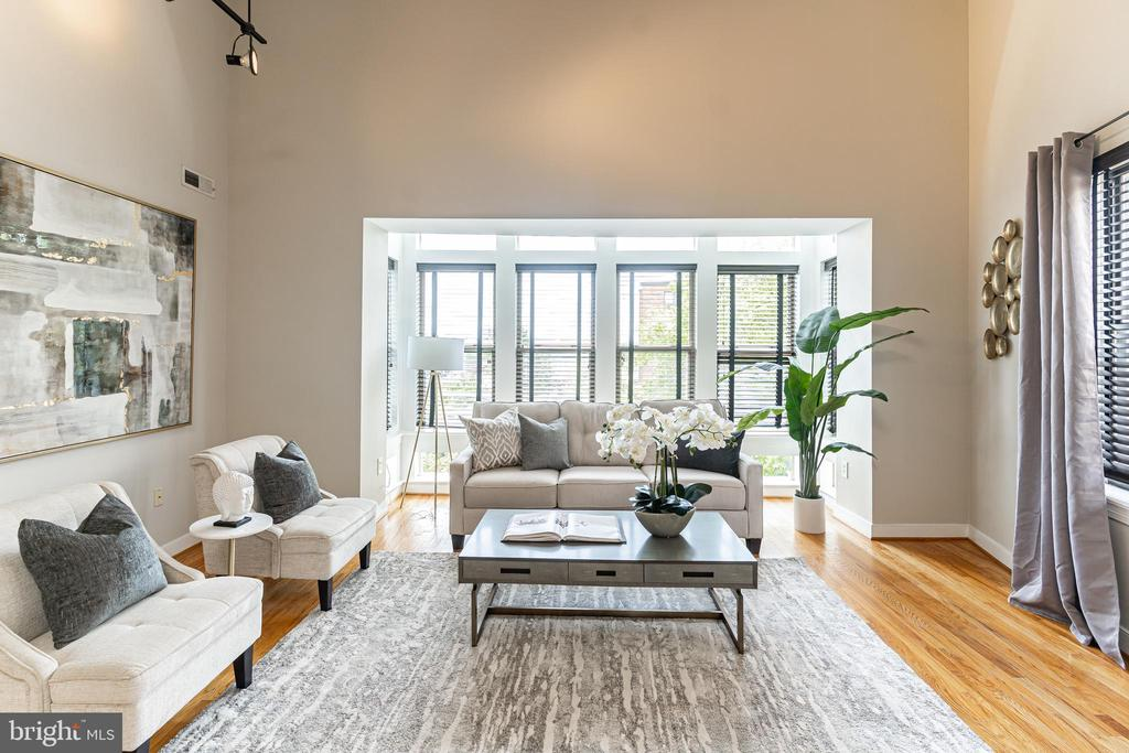 Sophisticated floor-ceiling architectural windows - 1827 FLORIDA AVE NW #401, WASHINGTON
