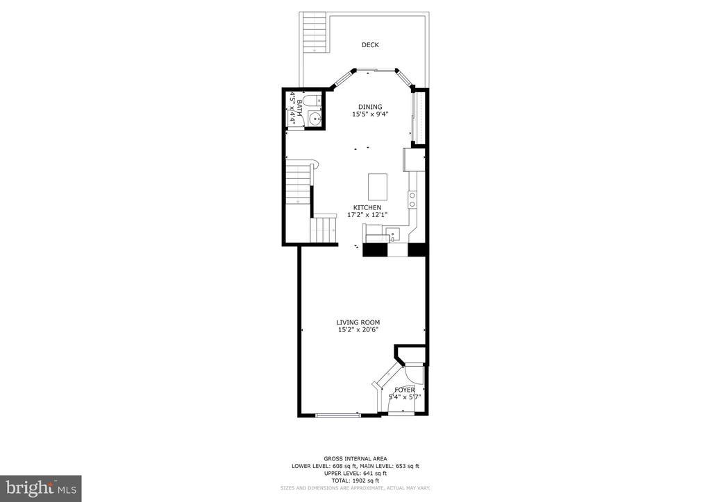Main Level Floor Plan - 8405 GLAD RIVERS ROW, COLUMBIA