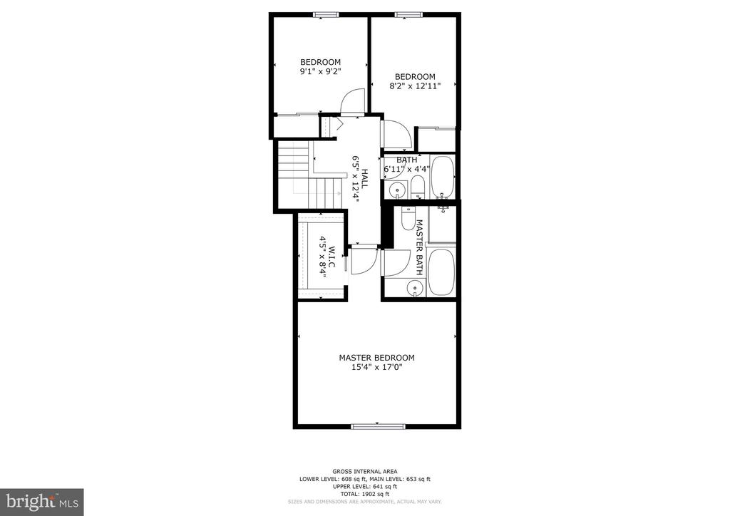 Upper Level Floor Plan - 8405 GLAD RIVERS ROW, COLUMBIA