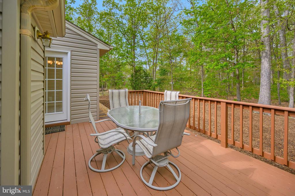Deck with access from  both liv rm & morning rm - 228 YORKTOWN BLVD, LOCUST GROVE
