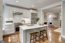 Open kitchen concept - new marble counters - 1510 26TH ST NW, WASHINGTON