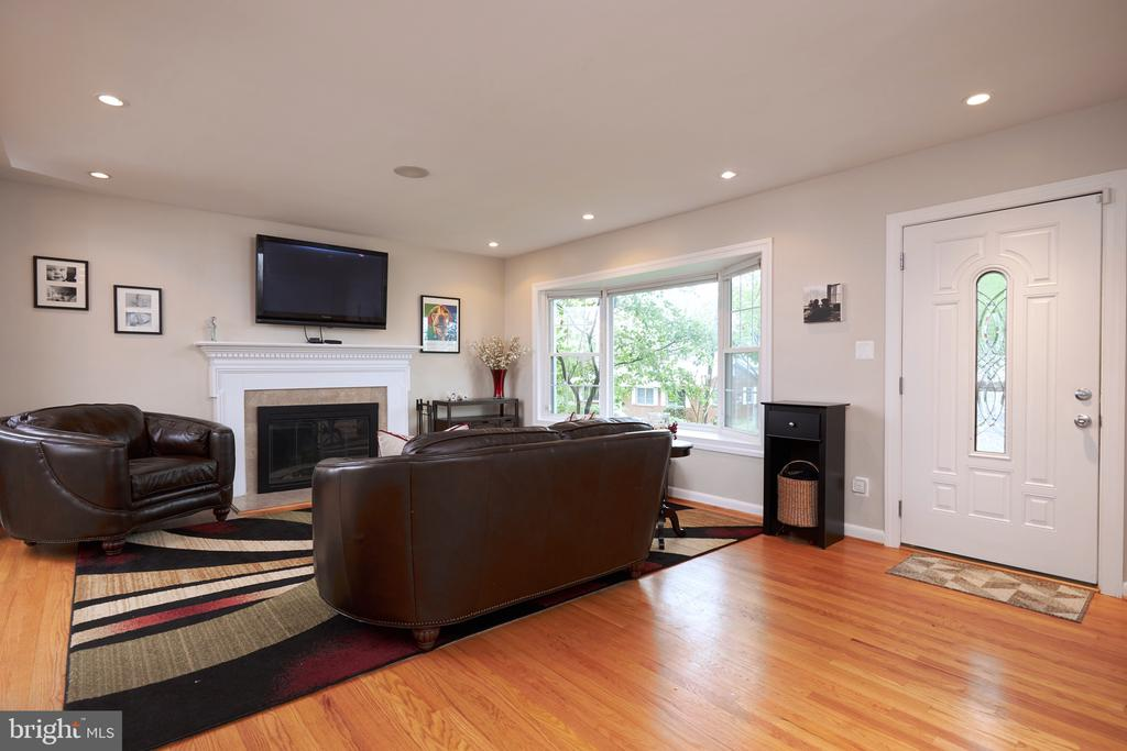Living room with wood burning fireplace - 2912 S GRANT ST, ARLINGTON