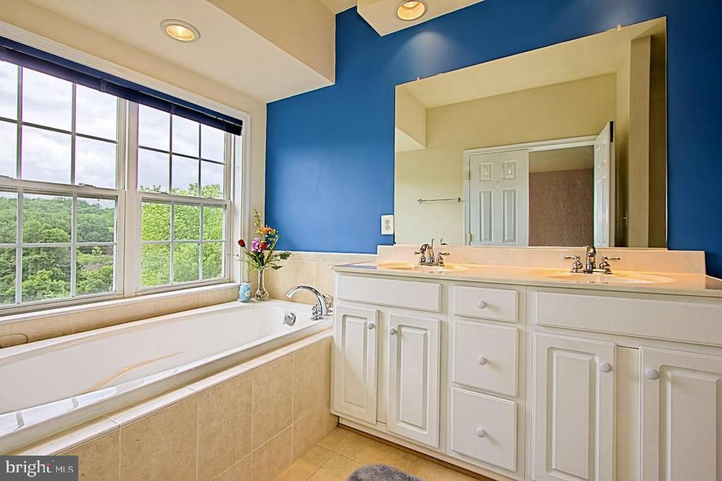 Relax in your soaking tub - double vanity - 6719 ASPEN TRACE CT, ANNANDALE