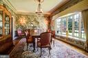Enter Dining Room from Foyer - Large Bow Window - 3905 BELLE RIVE TER, ALEXANDRIA
