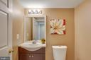 Lower level powder bathroom with newer style WC - 43771 APACHE WELLS TER, LEESBURG