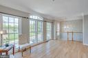 Living room with hardwood floors & lots of windows - 43771 APACHE WELLS TER, LEESBURG