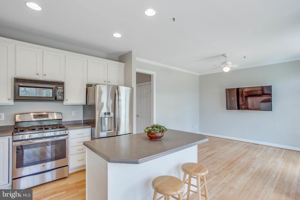 Stainless steel oven and microwave above. - 43771 APACHE WELLS TER, LEESBURG