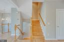 Hardwood Staircase to upper levels - 43771 APACHE WELLS TER, LEESBURG