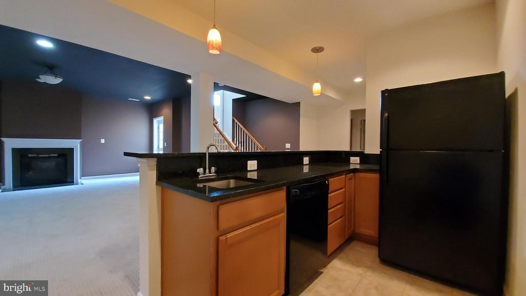 Basement Wet bar with dishwasher and fridge - 18805 PIER TRAIL DR, TRIANGLE