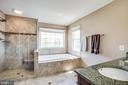 Remodeled master bath with soaking tub - 6 CROMWELL CT, STAFFORD