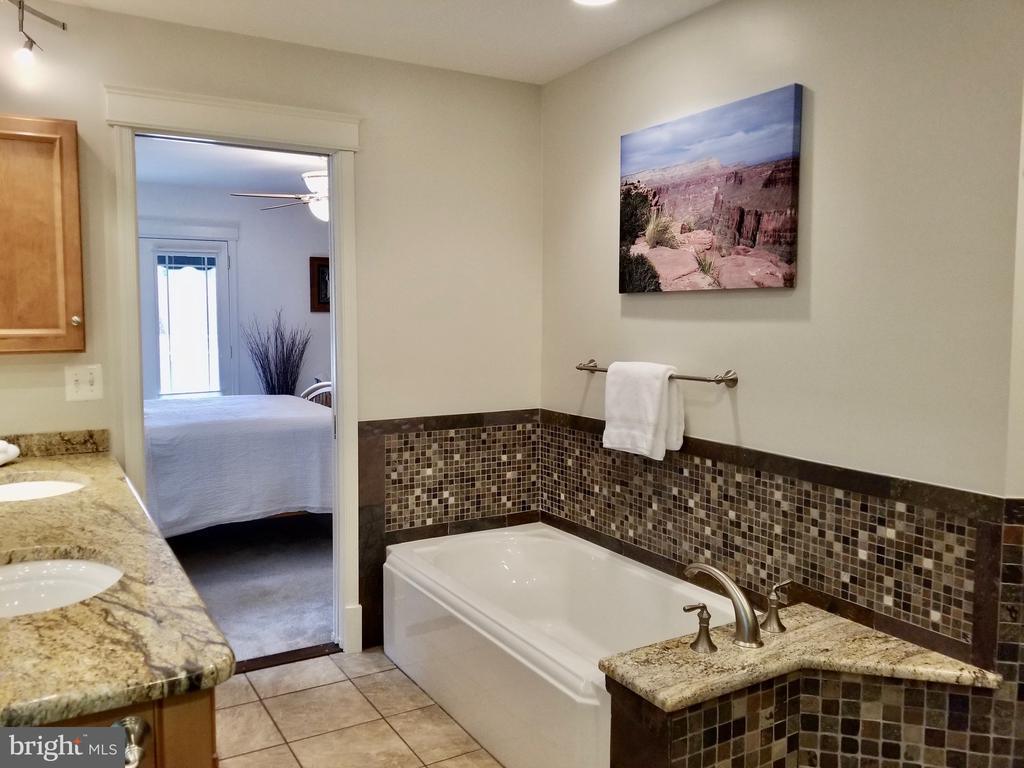 heated floor,  dual sink vanity & soaking tub. - 434 STATE ST, ANNAPOLIS
