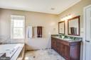 Remodeled master bath with double vanities - 6 CROMWELL CT, STAFFORD