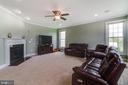 Family room with Fireplace - 16144 WOODLEY HILLS RD, HAYMARKET