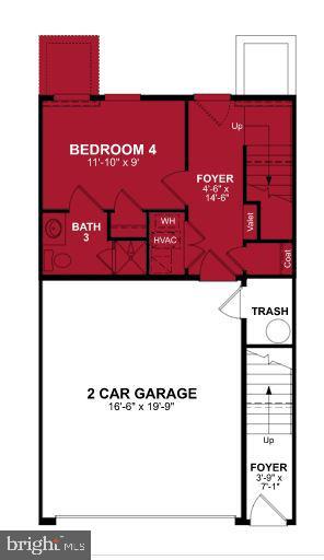 First Level Floor Plan - 1018 SOUTH TAYLOR CT, ARLINGTON