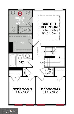 Third Level Floor Plan - 1018 SOUTH TAYLOR CT, ARLINGTON
