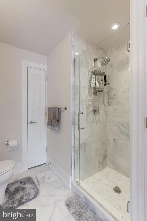 Hall bathroom with storage closet - 2434 16TH ST NW #301, WASHINGTON