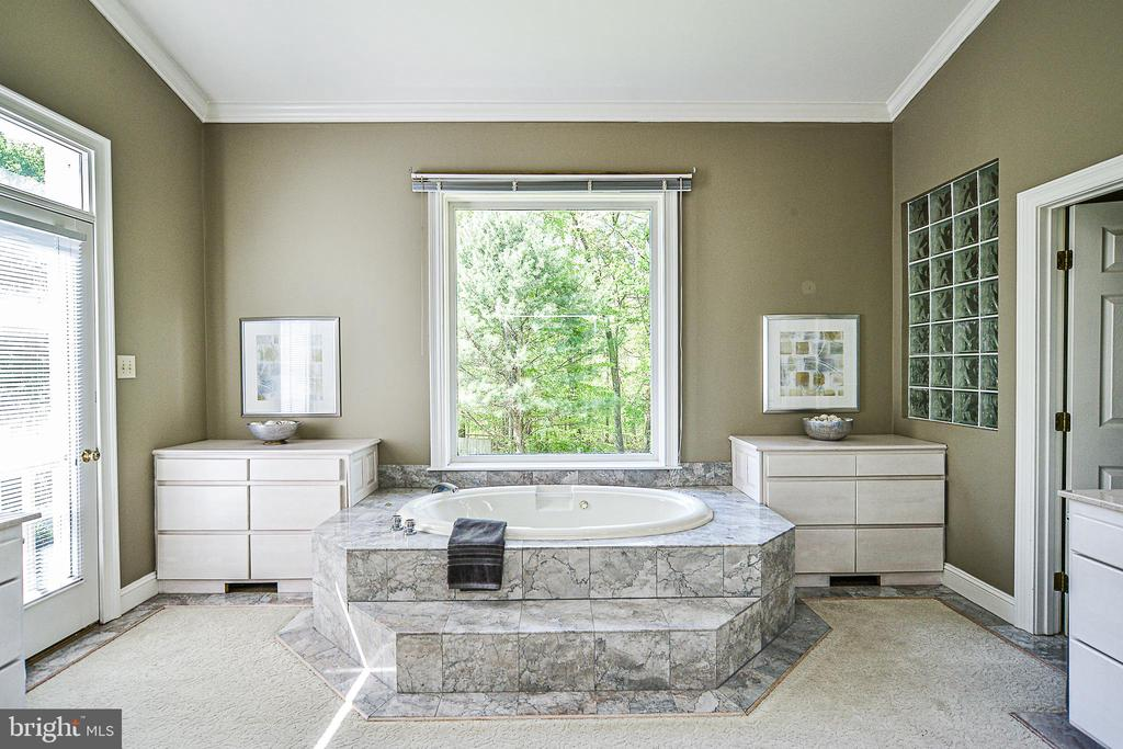 Master Bath with Marble Surround in Jacuzzi Tub - 12970 WYCKLAND DR, CLIFTON