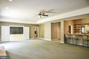 Expansive Lower Level Recreation Room with Bar - 12970 WYCKLAND DR, CLIFTON