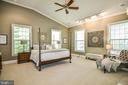 Main Level Master Bedroom with Vaulted Ceiling - 12970 WYCKLAND DR, CLIFTON