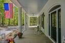 Front Porch with Classic Carolina Blue Ceiling - 12970 WYCKLAND DR, CLIFTON