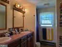 2nd bath upstairs w/ Double vanity - 544 PYLETOWN RD, BOYCE