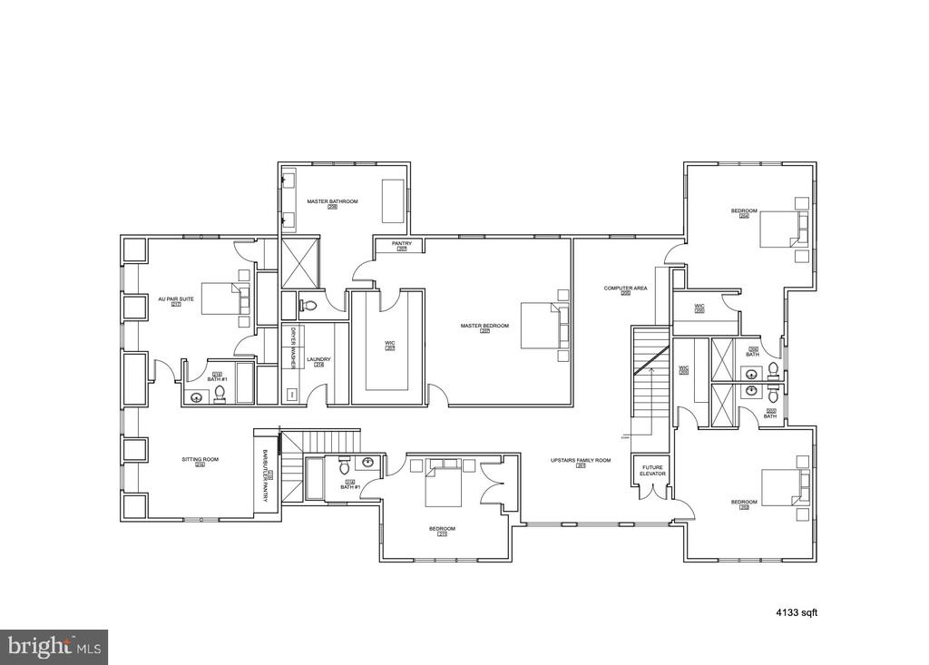 Upper Level Floor Plan 4133 Sqft - 1100 LEIGH MILL RD, GREAT FALLS