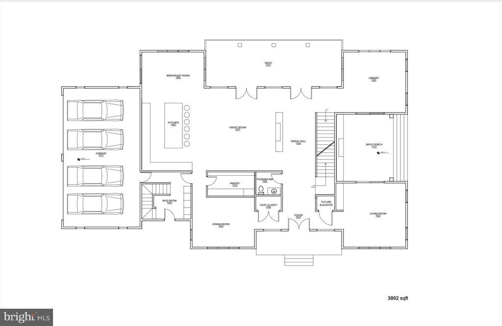 Main Floor Plan 3892 sqft - 1100 LEIGH MILL RD, GREAT FALLS