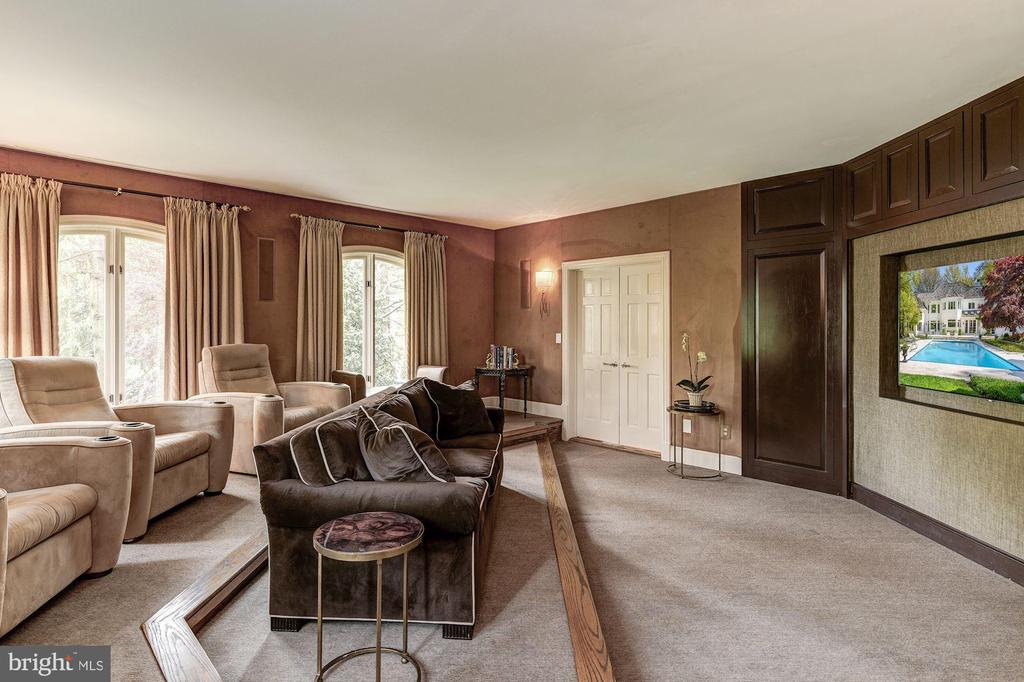 First Level features a fabulous Theater - 5321 GOLDSBORO RD, BETHESDA