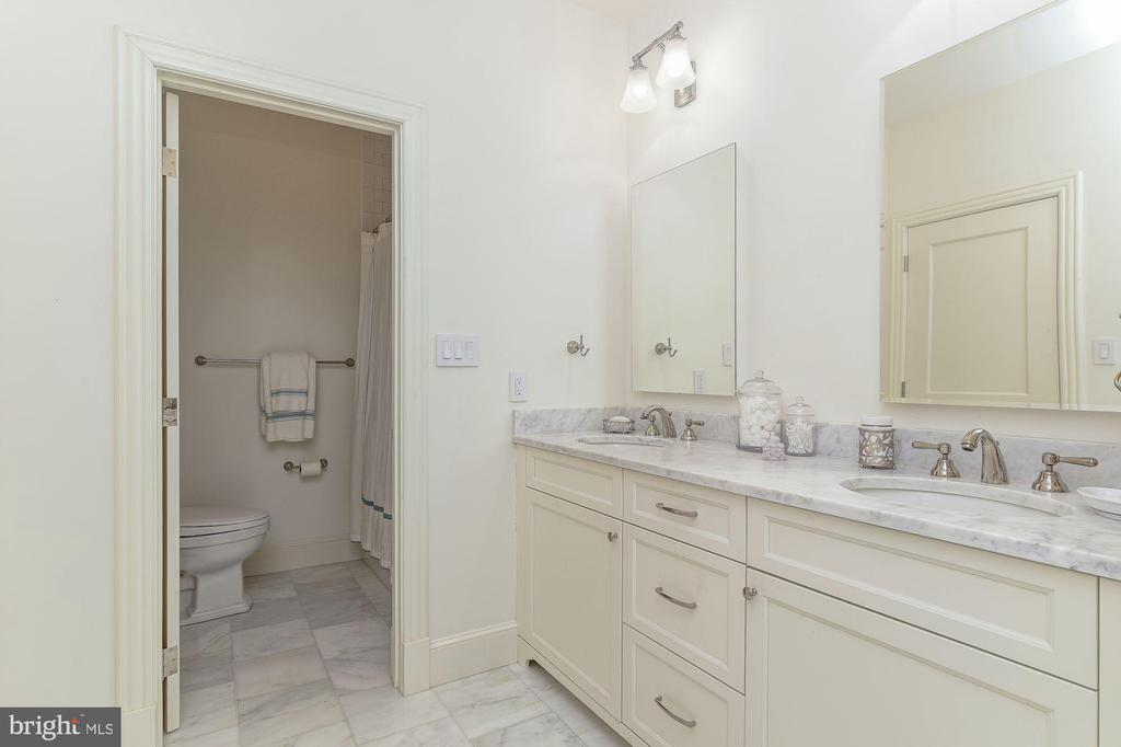 Beautiful Full Bath Number Five with Double Vanity - 5321 GOLDSBORO RD, BETHESDA