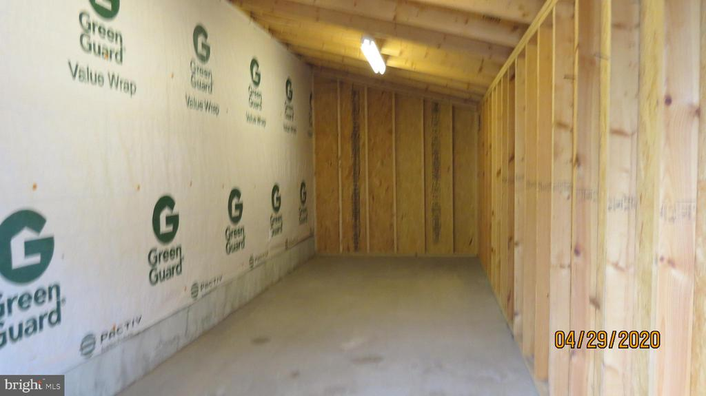 the garage large Attached storage area - 22191 BERRY RUN RD, ORANGE