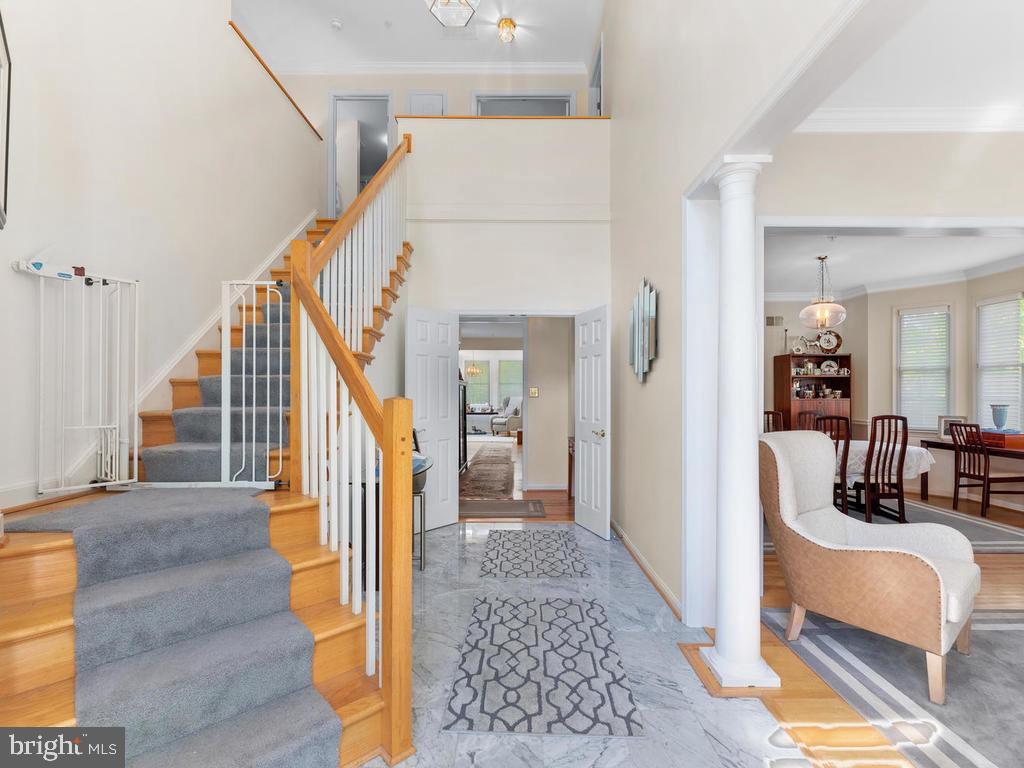 Two-story entry foyer - 4311 WOODBERRY ST, UNIVERSITY PARK