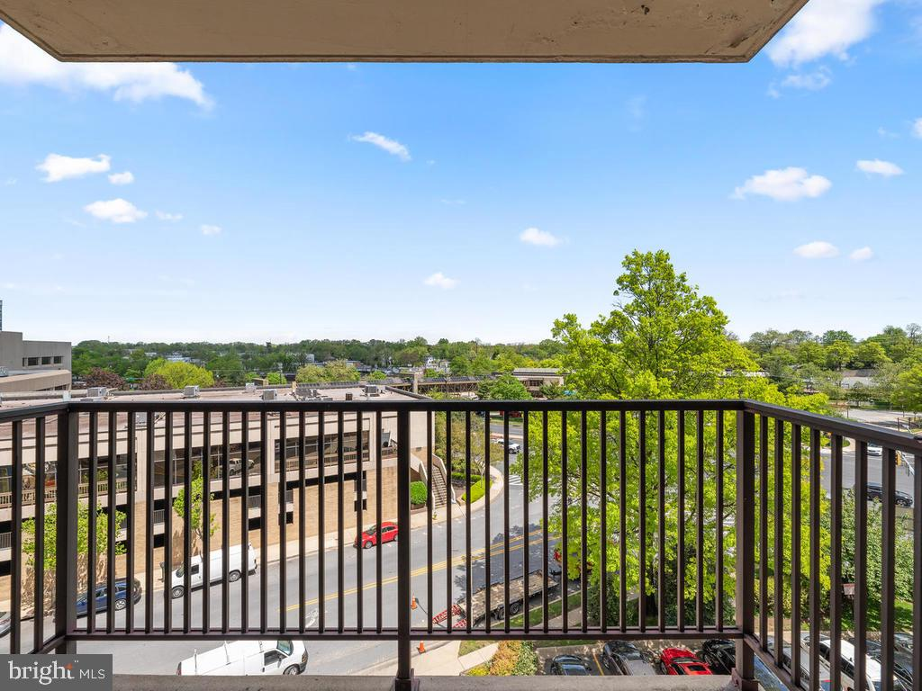 View #1 from Balcony - 4 MONROE ST #711, ROCKVILLE