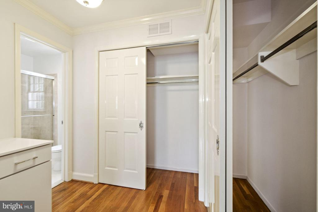Three closets in master provide plenty of storage - 7808 CHARLESTON DR, BETHESDA