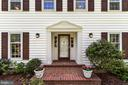 Charming front entry with brick walk - 7808 CHARLESTON DR, BETHESDA
