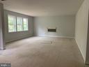 Family Room - Linear Gas Fireplace w/White Quartz - 7906 KENT RD, ALEXANDRIA