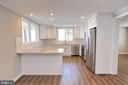 End of Counter overhang for stools - 18850 WICOMICO RIVER DR, COBB ISLAND