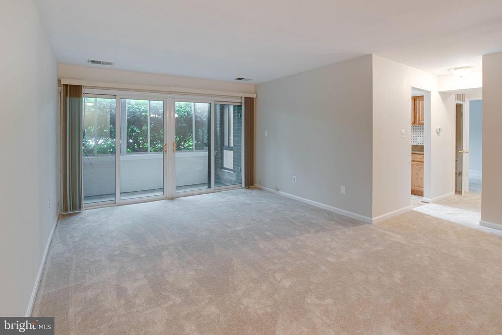 Living Room w brand new carpet - 545 FLORIDA AVE #T1, HERNDON