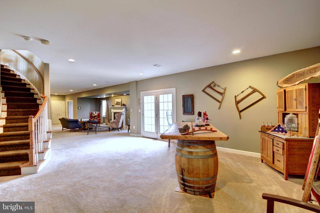 Lower Level Game Room with walkout to pool - 22077 OATLANDS RD, ALDIE