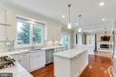 Bright and Huge Kitchen Overlooking Deck and Back - 10811 CRIPPEN VALE CT, RESTON