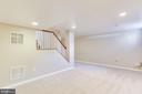 New Basement Carpet and Recessed Lighting - 10811 CRIPPEN VALE CT, RESTON