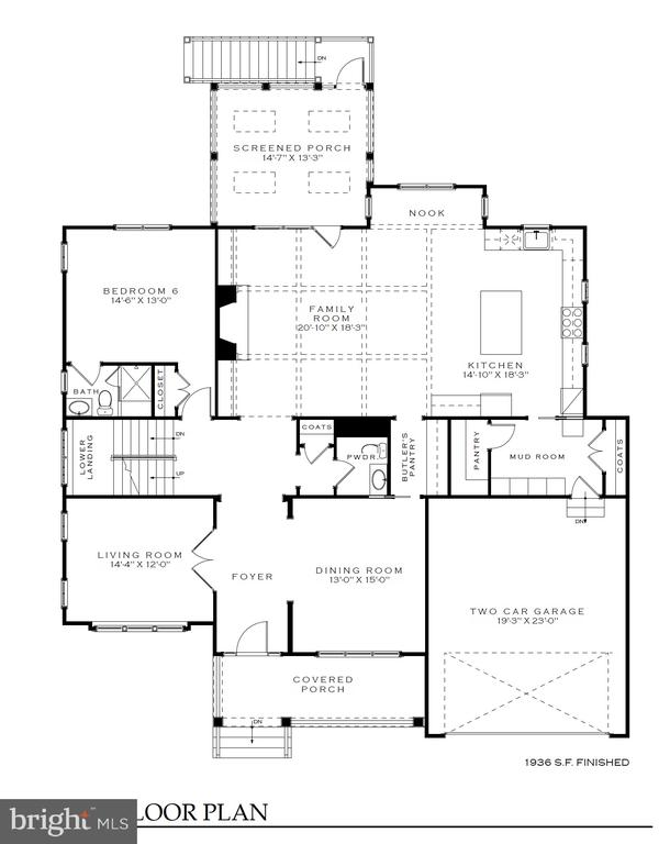 Main level  floor plan-4042 21st St  N, Arlington - 4042 21ST ST N, ARLINGTON