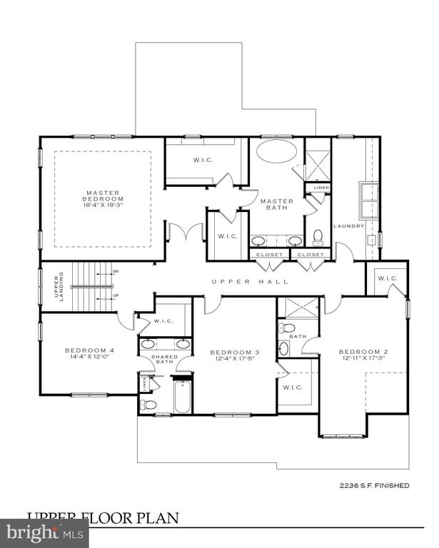 2nd  floor plan - 4042 21st St  N, Arlington - 4042 21ST ST N, ARLINGTON