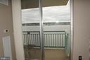 View from kitchen to river - 501 SLATERS LN #823, ALEXANDRIA