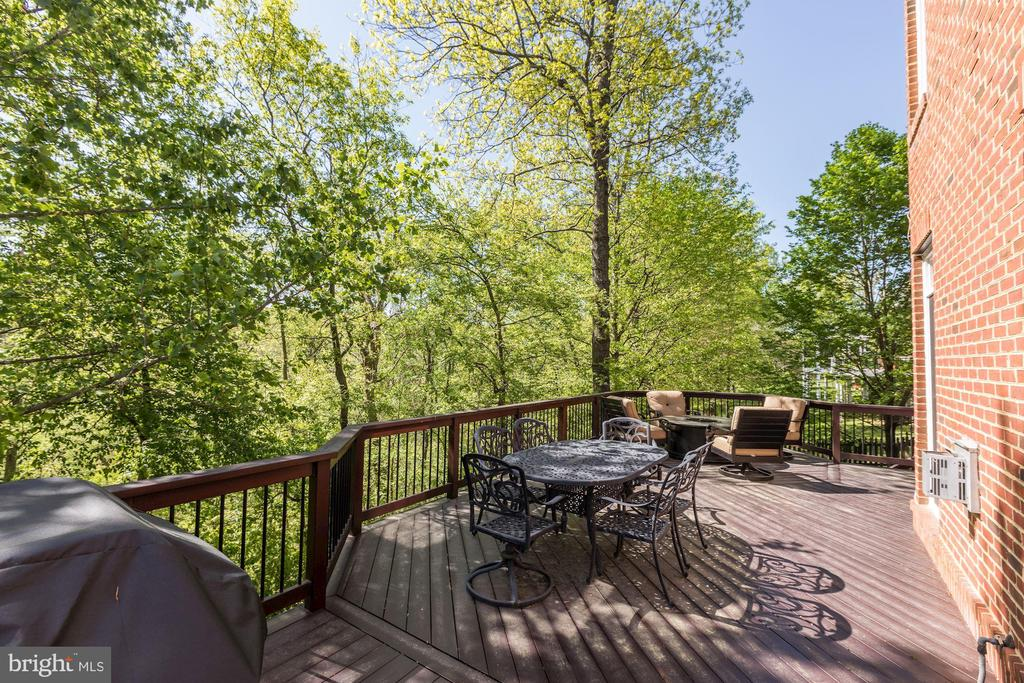 Large deck for dining table, fire table and grill - 43285 OVERVIEW PL, LEESBURG