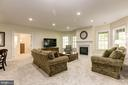 Lower level recreation room with gas fireplace - 43285 OVERVIEW PL, LEESBURG