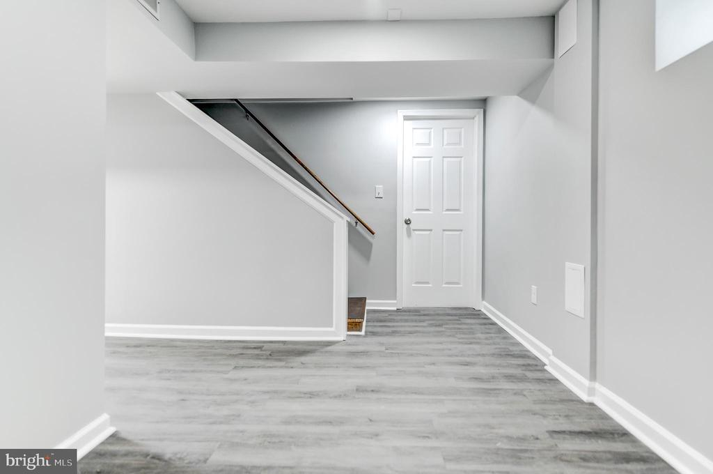 Finished Basement, Looking at Stairs and 4th Bed - 5135 34TH ST NW, WASHINGTON