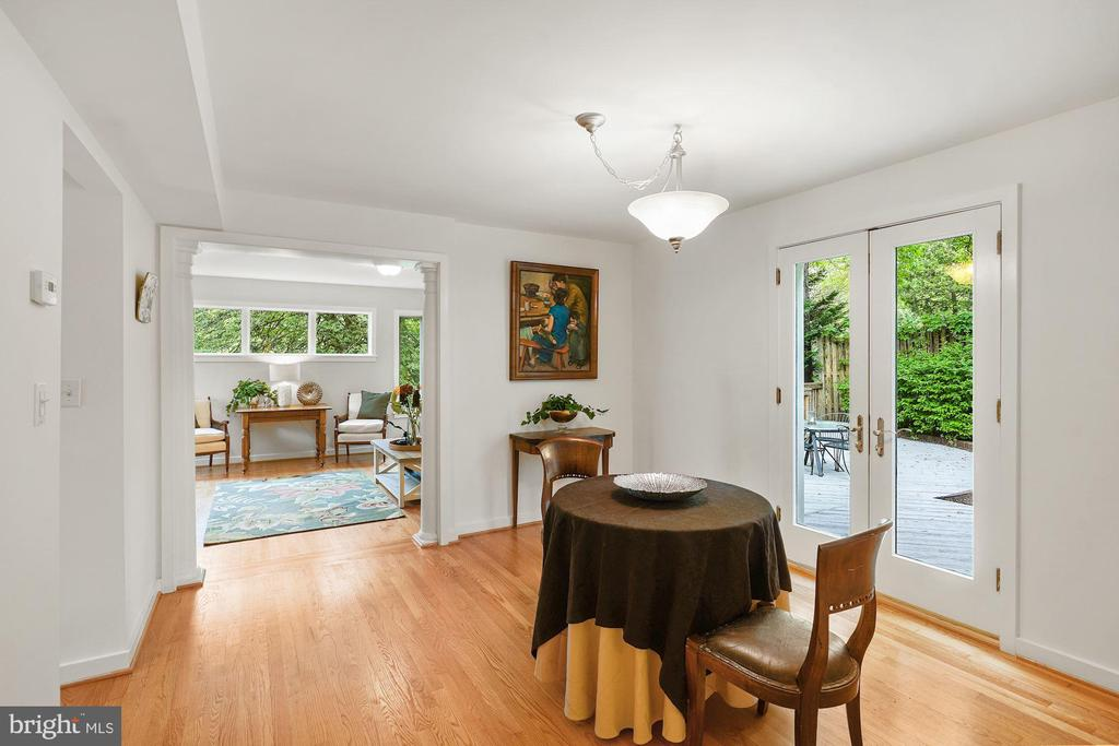 Dining Room with Hardwood Floors - 3030 N QUINCY ST, ARLINGTON