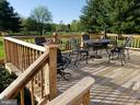 Rear Deck off of Dining Room or Great Rm - 11629 DUTCHMANS CREEK RD, LOVETTSVILLE