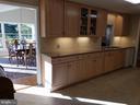 Dining Rm/ Kitchen showing undermount lighting - 11629 DUTCHMANS CREEK RD, LOVETTSVILLE