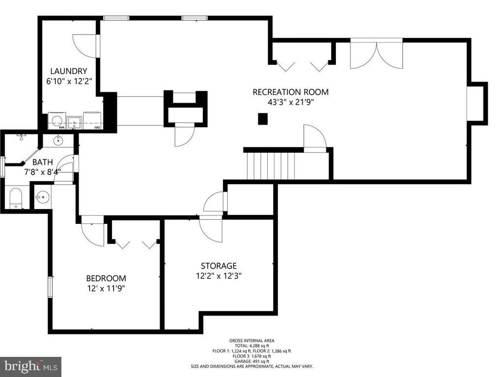 Lower Level Floor Plan - 1281 AUBURN GROVE LN, RESTON